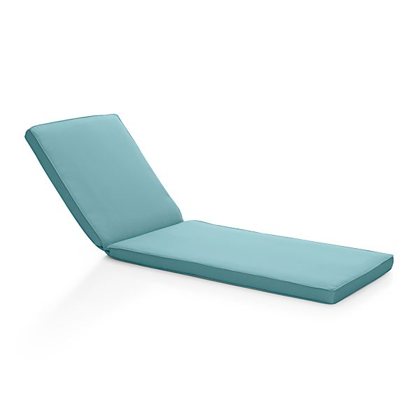 Sunbrella sunbrella mineral blue for Blue chaise lounge cushions
