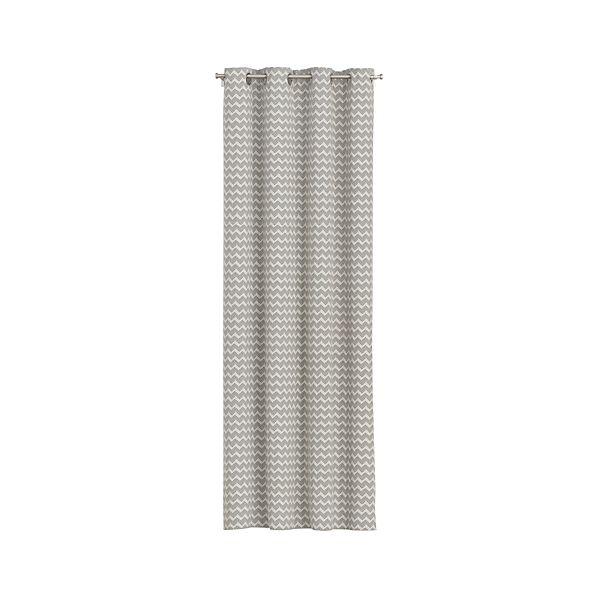 Reilly Grey Chevron Curtains