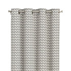 Reilly Grey Chevron Curtain Panel.