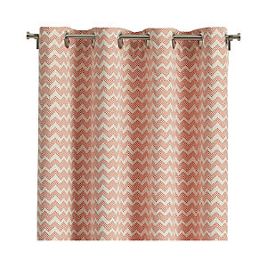 "Reilly Orange 50""x84"" Curtain Panel"