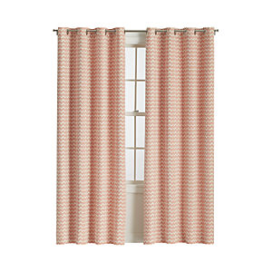 Reilly Orange Curtain Panels