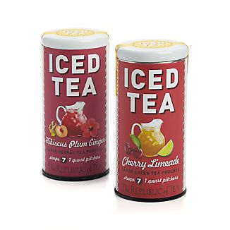 Republic of Tea Cherry Limeade Green and Hibiscus Plum Ginger Iced Teas