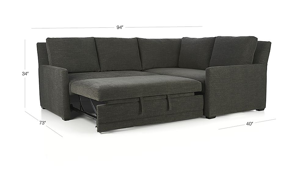 Reston 2 Piece Sleeper Sectional Sofa Charcoal Crate  : Reston2PcLASlpRACnSfS15Dim from www.crateandbarrel.com size 1008 x 567 jpeg 44kB