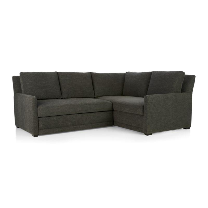 Reston 2-Piece Sleeper Sectional Sofa - Charcoal