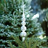 Retro Silver and Gold Glass Tree Topper