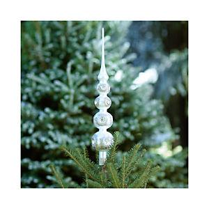 Retro Silver and Gold Glass Tree Topper