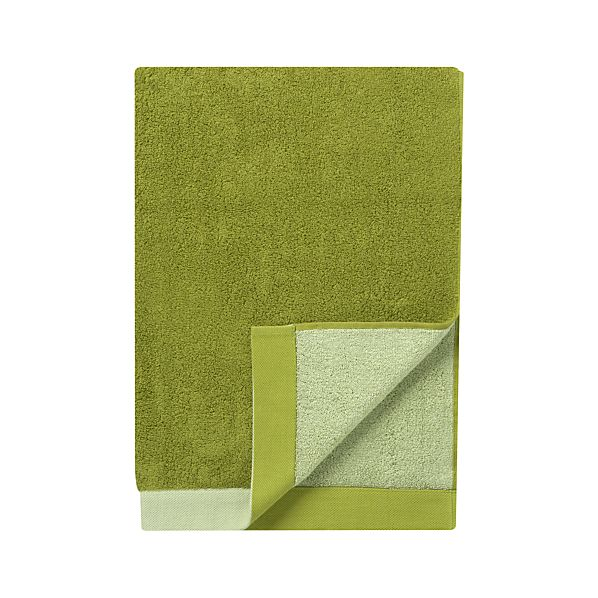 Reversible Green Bath Towel