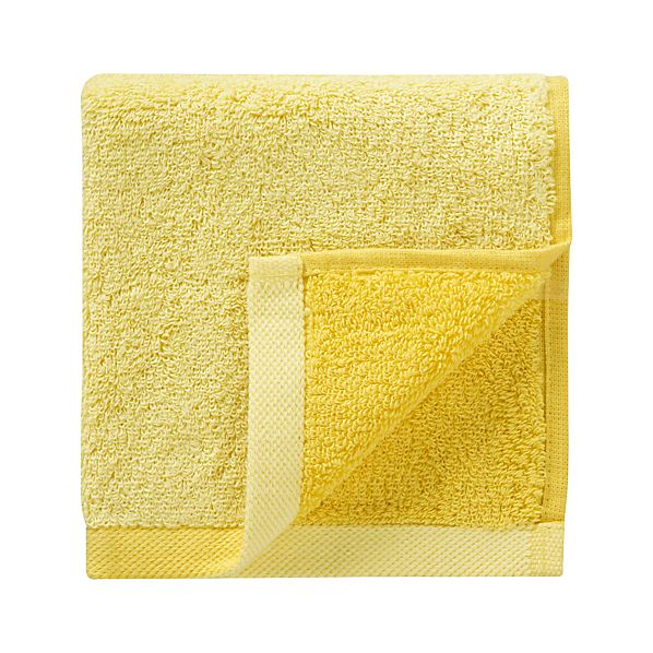 Reversible Yellow Washcloth