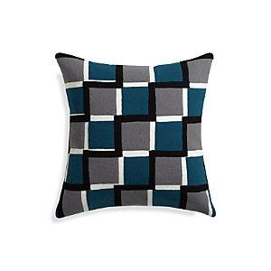 """Reyna Blue 20"""" Pillow"""