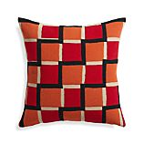 "Reyna Red 20"" Pillow with Feather Insert"
