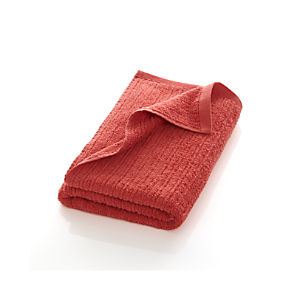 Ribbed Coral Bath Towel