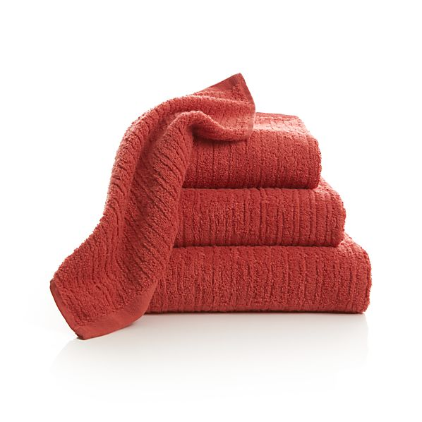 Ribbed Coral BathTowels