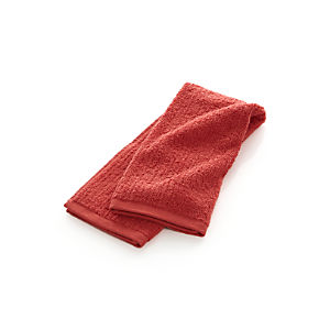 Ribbed Coral Hand Towel