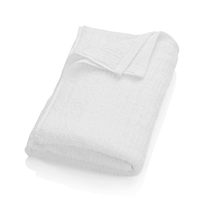 Ribbed White Bath Towel Crate And Barrel
