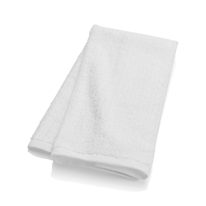 Ribbed White Hand Towel Crate And Barrel