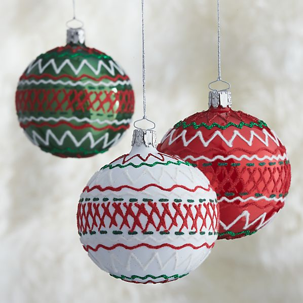 Ric-Rac Ball Ornaments