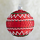 Red Ric-Rac Ball Ornament.