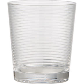 Ridged Acrylic Double Old-Fashioned Glass