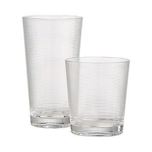 Ridged Acrylic Glasses
