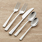 Riga 20-Piece Flatware Set: four 5-piece place settings.