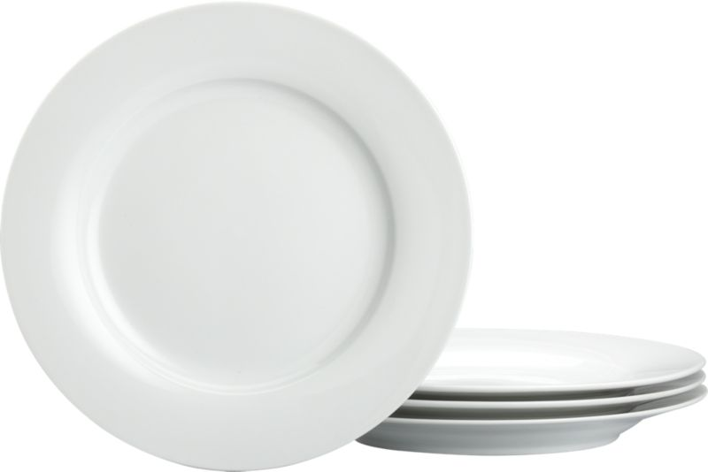 Set Of 4 Rim Dinner Plates Crate And Barrel
