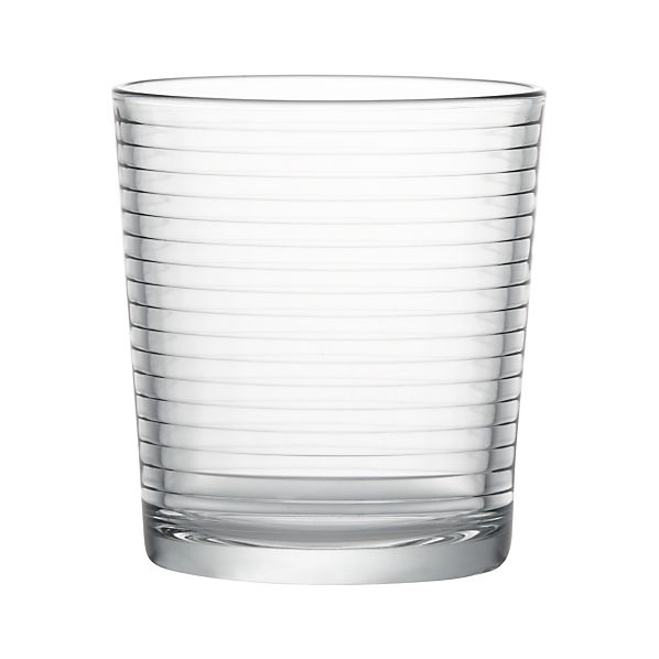 Set of 4 Rings Double Old-Fashioned Glasses