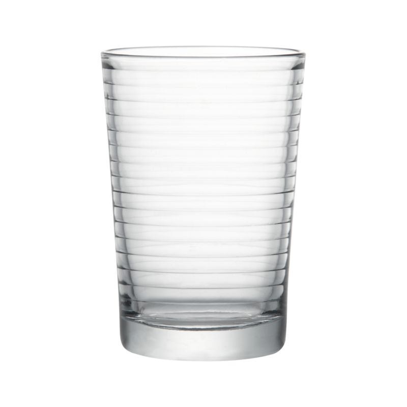 Embossed rings on a classic drinkware shape.<br /><br /><NEWTAG/><ul><li>Dishwasher-safe</li><li>Made in Bulgaria or Turkey</li></ul>