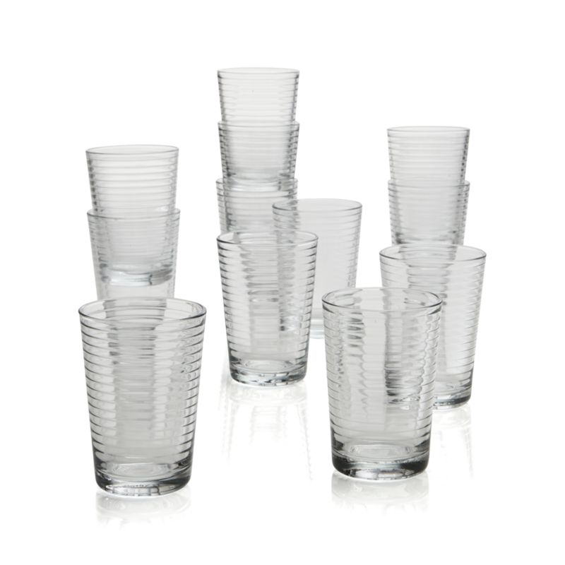 Glass Sets Juice Glasses Set of 12 Rings Juice Glasses