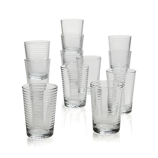 Set of 12 Rings Juice Glasses