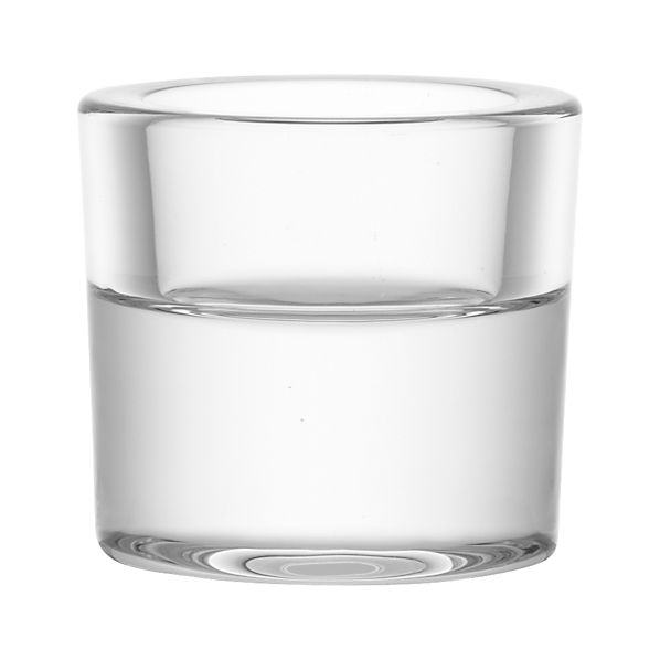 Rise Small Glass Tea Light Candle Holder