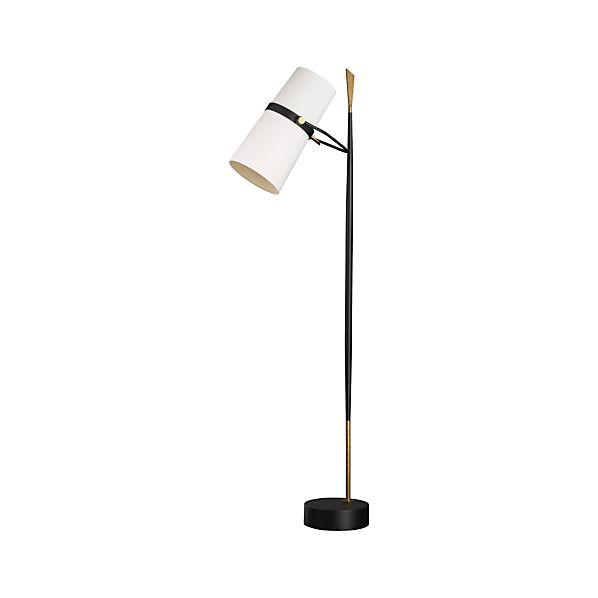 Riston Floor Lamp in Floor Lamps, Torchieres | Crate and Barrel