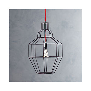 Riviera Large Grey Pendant Lamp