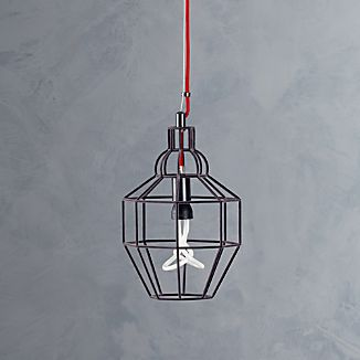 Riviera Small Grey Pendant Lamp
