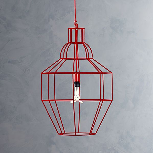 Riviera Large Red Pendant Lamp