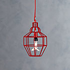 Riviera Small Red Pendant Lamp.