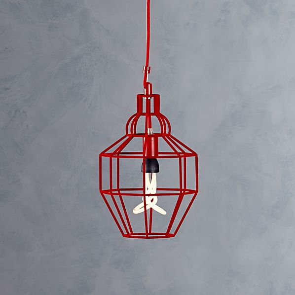 Riviera Small Red Pendant Light