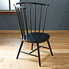Riviera Black Tall Windsor Side Chair.