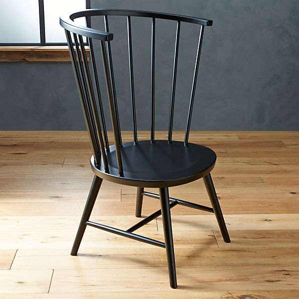Riviera Black Tall Windsor Side Chair