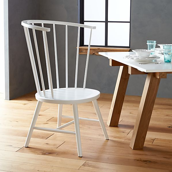 Riviera White Tall Windsor Side Chair