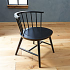 Riviera Black Low Windsor Side Chair.