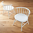 Riviera White Low Windsor Side Chair.