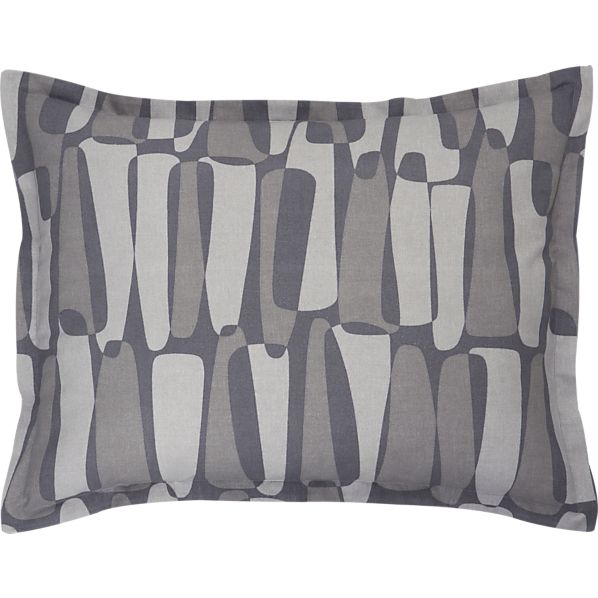 Rocco Grey Standard Pillow Sham