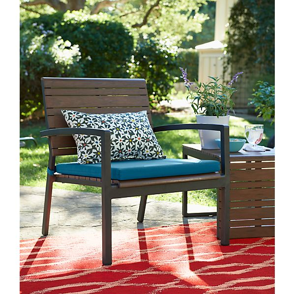 Rocha Lounge Chair with Sunbrella ® Turkish Tile Cushion