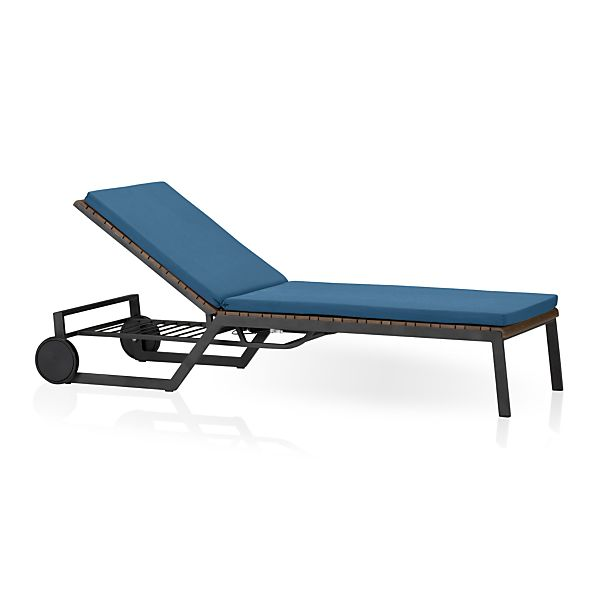 Rocha Chaise Lounge with Sunbrella® Turkish Tile Cushion