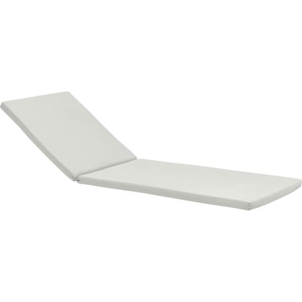 Rocha Sunbrella® White Sand Chaise Lounge Cushion