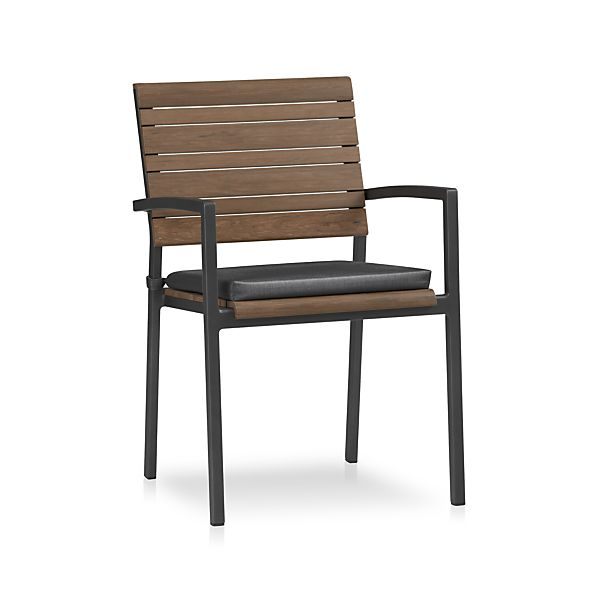Rocha Dining Chair with Sunbrella® Charcoal Cushion