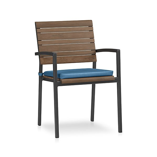 Rocha Dining Chair with Sunbrella® Turkish Tile Cushion