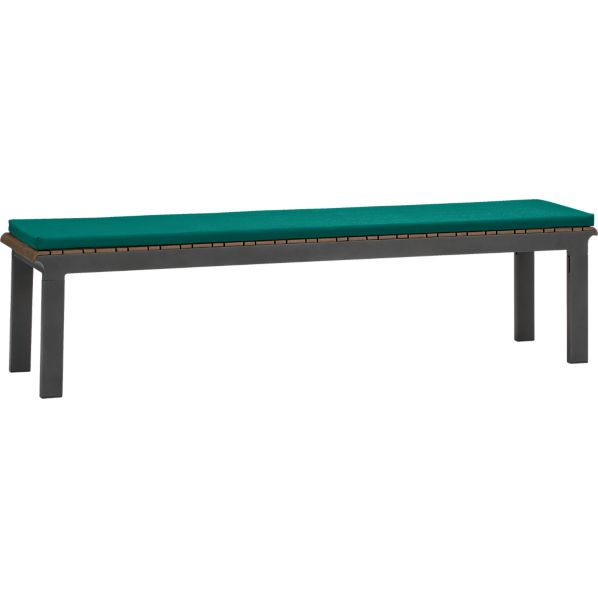 Rocha Dining Bench with Sunbrella® Harbor Blue Cushion