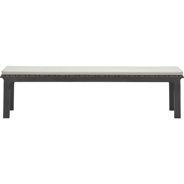 Rocha Dining Bench with Sunbrella® White Sand Cushion