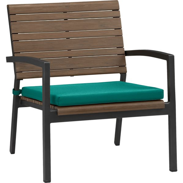 Rocha Lounge Chair with Sunbrella® Harbor Blue Cushion